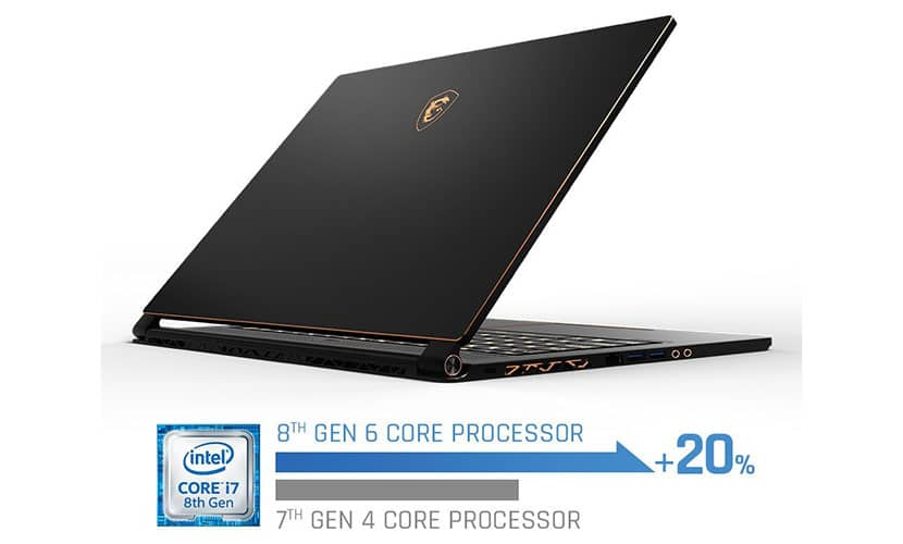 MSI GS65 Stealth Thin-054 with 8th Generation i7-8750H Hexa-Core processor