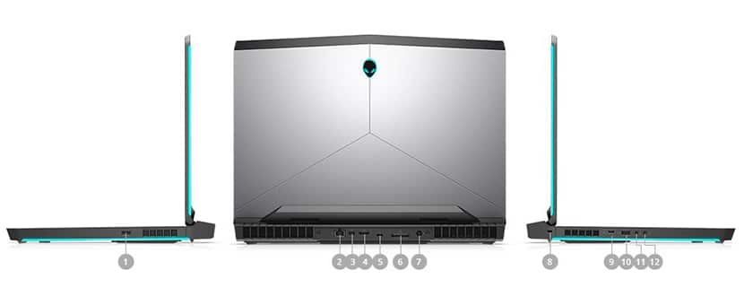 ports and slots New Alienware 17 Gaming Laptop