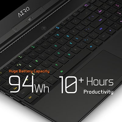Battery life Gigabyte Aero 15X V8-BK4 Gaming Laptop