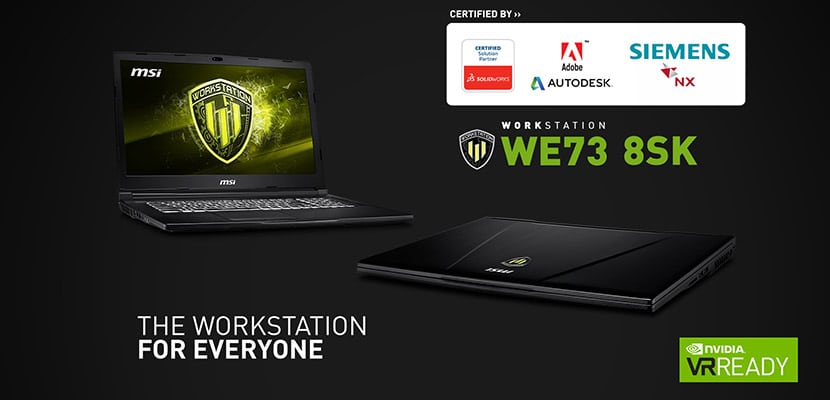 MSI WE73 Workstation Laptop Overview