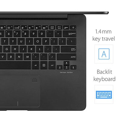 Backlit keyboard ASUS ZenBook UX430UA-DH74 Thin and Light Laptop
