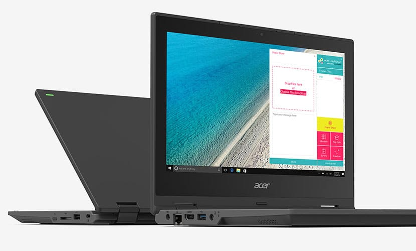Built for education Acer TravelMate Spin B1 TMB118-RN-C6F3