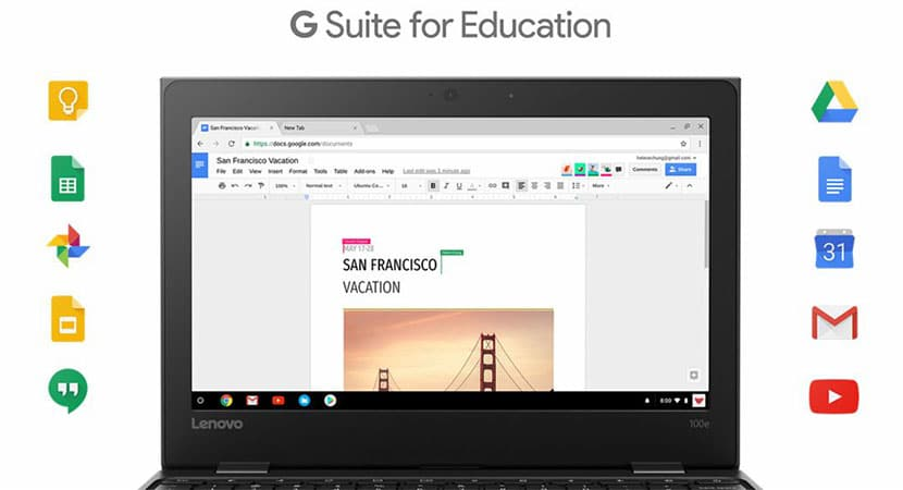 G Suite Lenovo 100e Chromebook