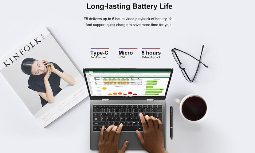 Connectivity and battery life Teclast F5