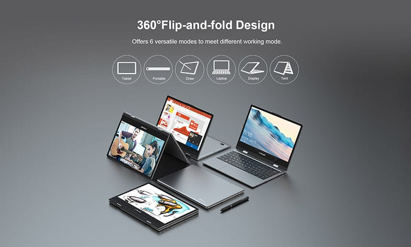Teclast F5 360 degree rotatable laptop review