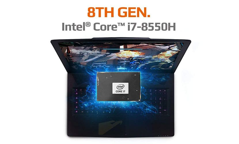 aorus x7 dt v8-cl4d comes with i7-8850h and gtx 1080