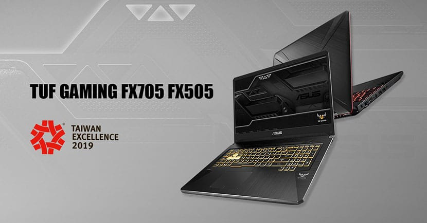 asus tuf fx705 and fx505 - bags the taiwan excellence awards 2019