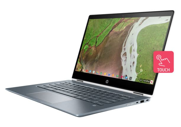 hp chromebook x360 14 left facing