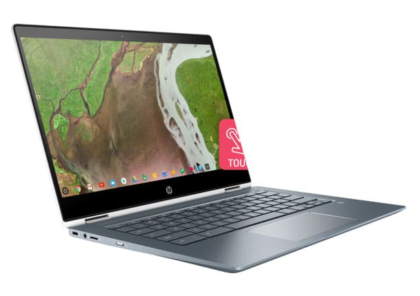 hp chromebook x360 14 right facing