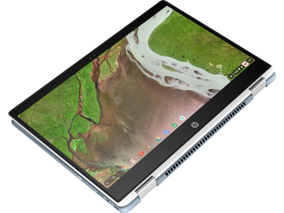 hp chromebook x360 14 top view