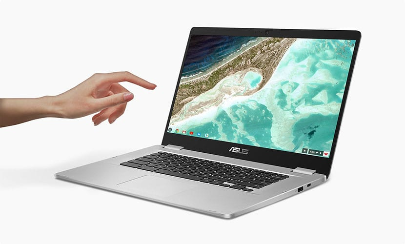 touch display asus chromebook c523