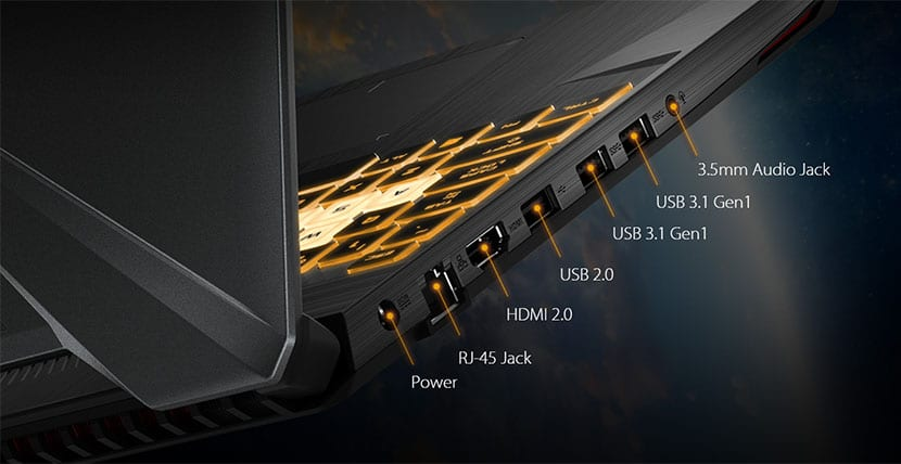 asus tuf fx505dy connectivity