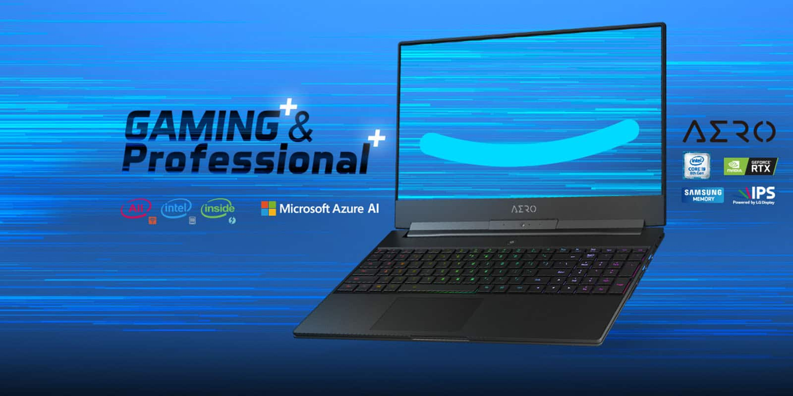 Gigabyte Aero 15 is the First Azure Powered Gaming Laptop – CES 2019 - My  Laptop Guide