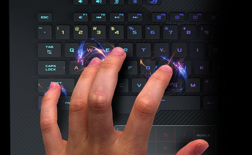 keyboard asus rog strix hero iii