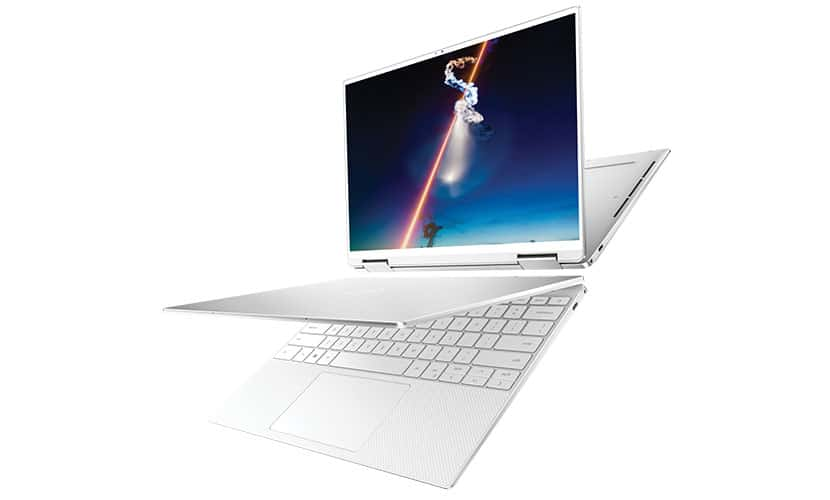 dell xps 13 7390 2-in-1 white laptop