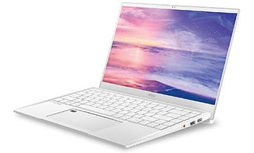 msi prestige 14 white laptop