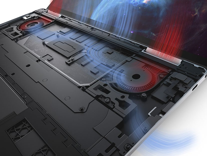performance and cooling dell xps 13 2-in-1 7390