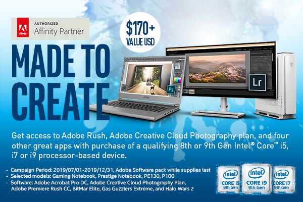 msi adobe creative pack promotion