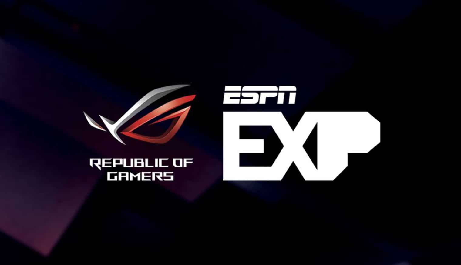 rog collaborates with espn at exp sports gaming series