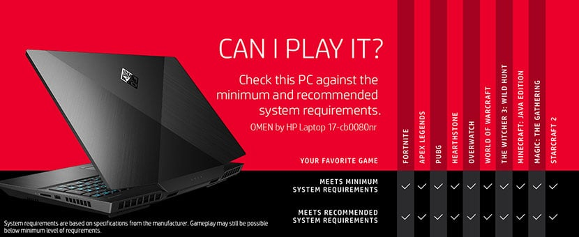 play your favorite games with hp omen 17-cb0060nr 70nr 80nr 90nr