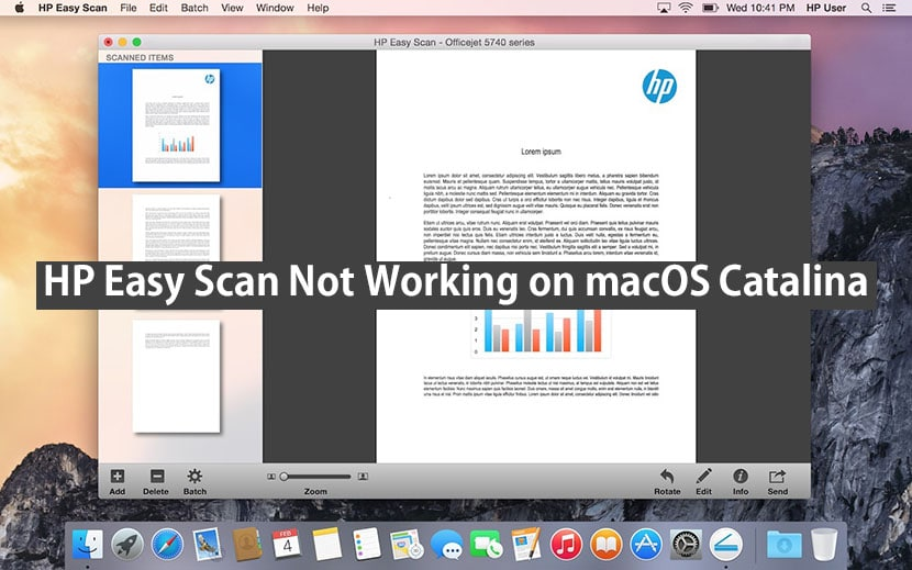 hp easy scan not working on macOS catalina