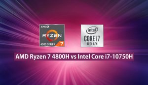 ryzen 7 4800h vs core i7-10750h