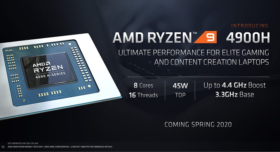 amd added ryzen 9 4900h