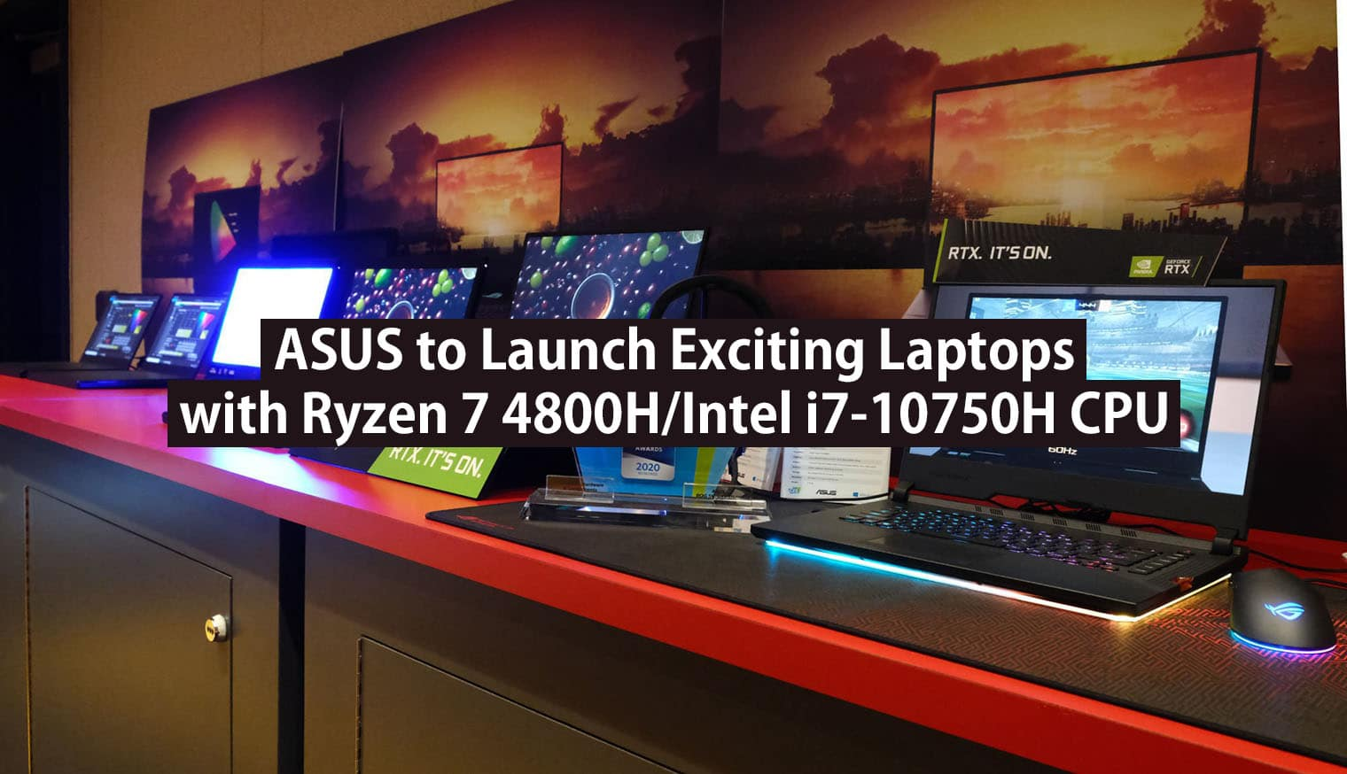 upcoming asus laptops with ryzen 7 4800HS and i7-10750H