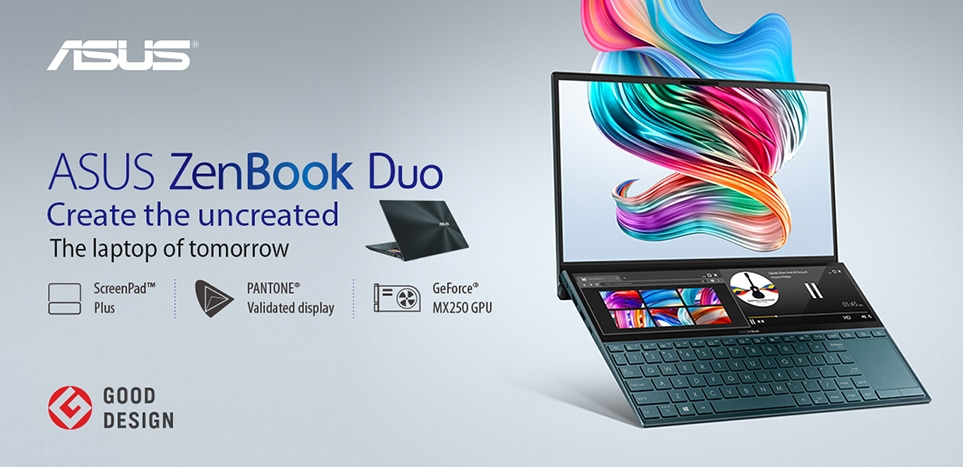 asus zenbook duo ux481 dual screen laptop
