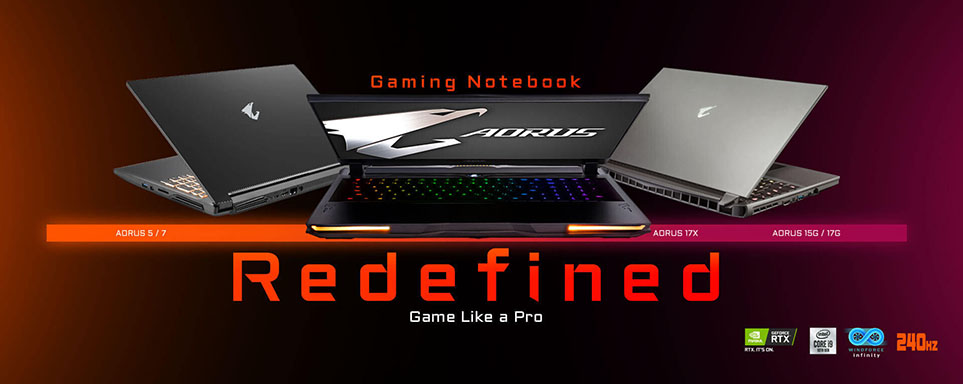 gigabyte aorus gaming laptops 2020