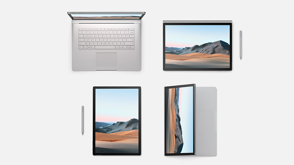 Surface Book 3 modes