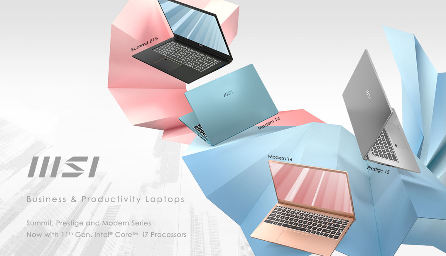 new msi business and productivity laptop series
