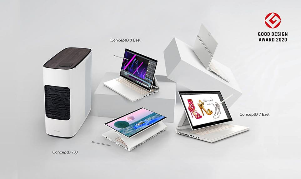 acer conceptd lineup Good Design Award 2020