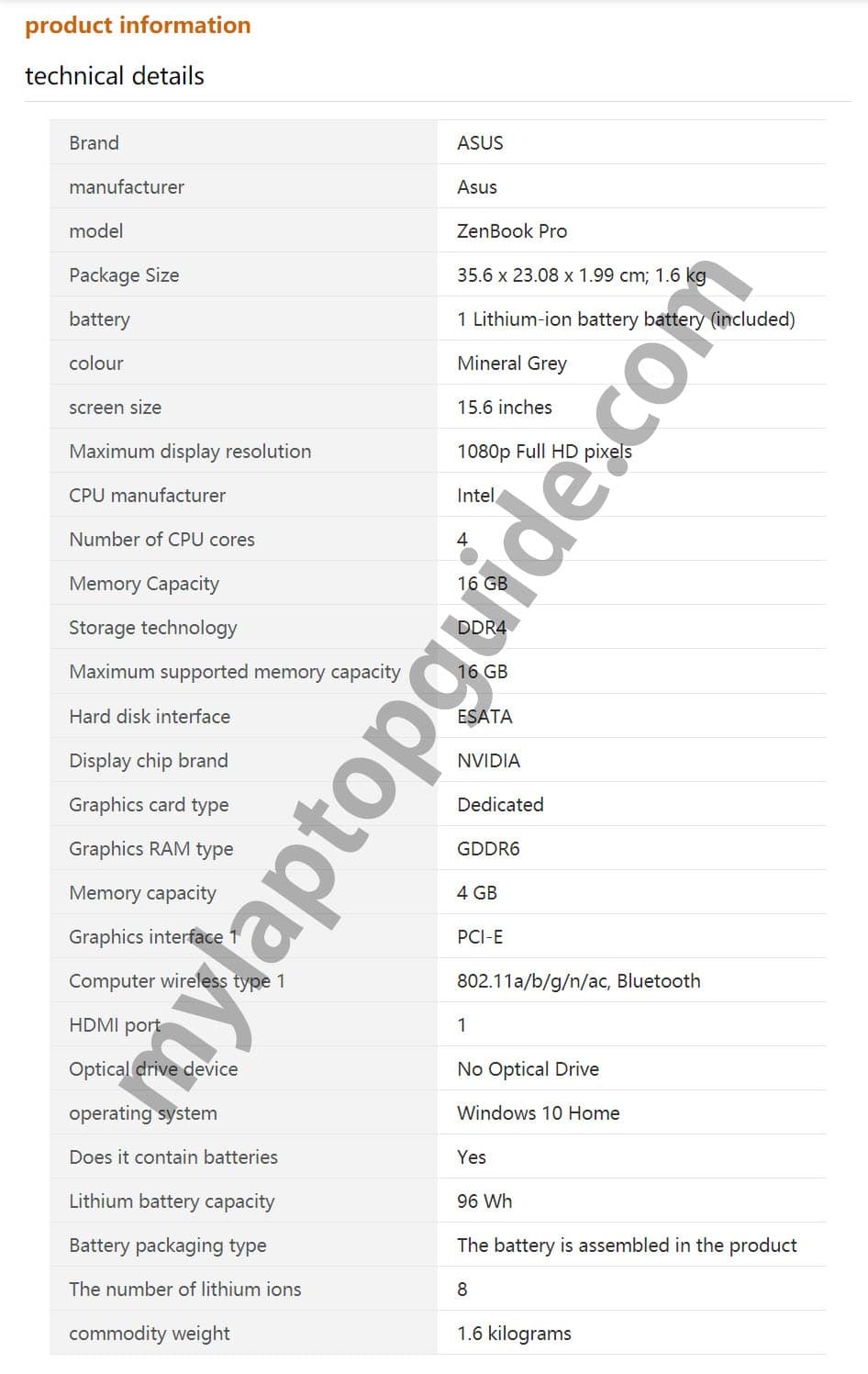 ASUS ZenBook Pro 15 UX564PH i7-11370H spotted