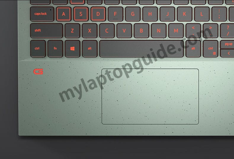 dell g15 5510 functional green touchpad keyboard