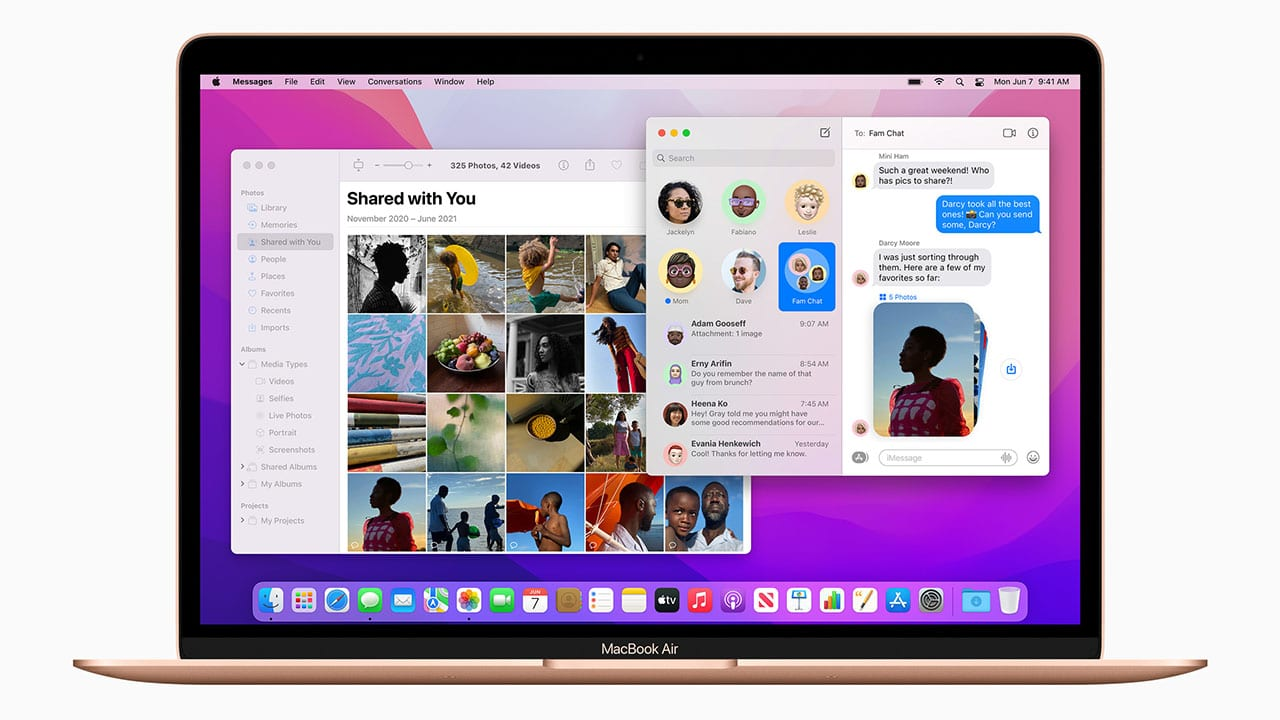 Apple macos-monterey messages photos